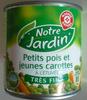 Petits pois et jeunes carottes à l'étuvée (Très Fins) - Produit