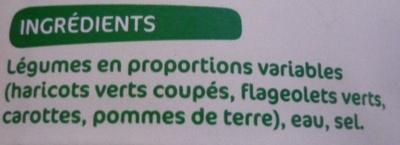 Jardinière de 4 légumes 4/4 - Ingrédients - fr