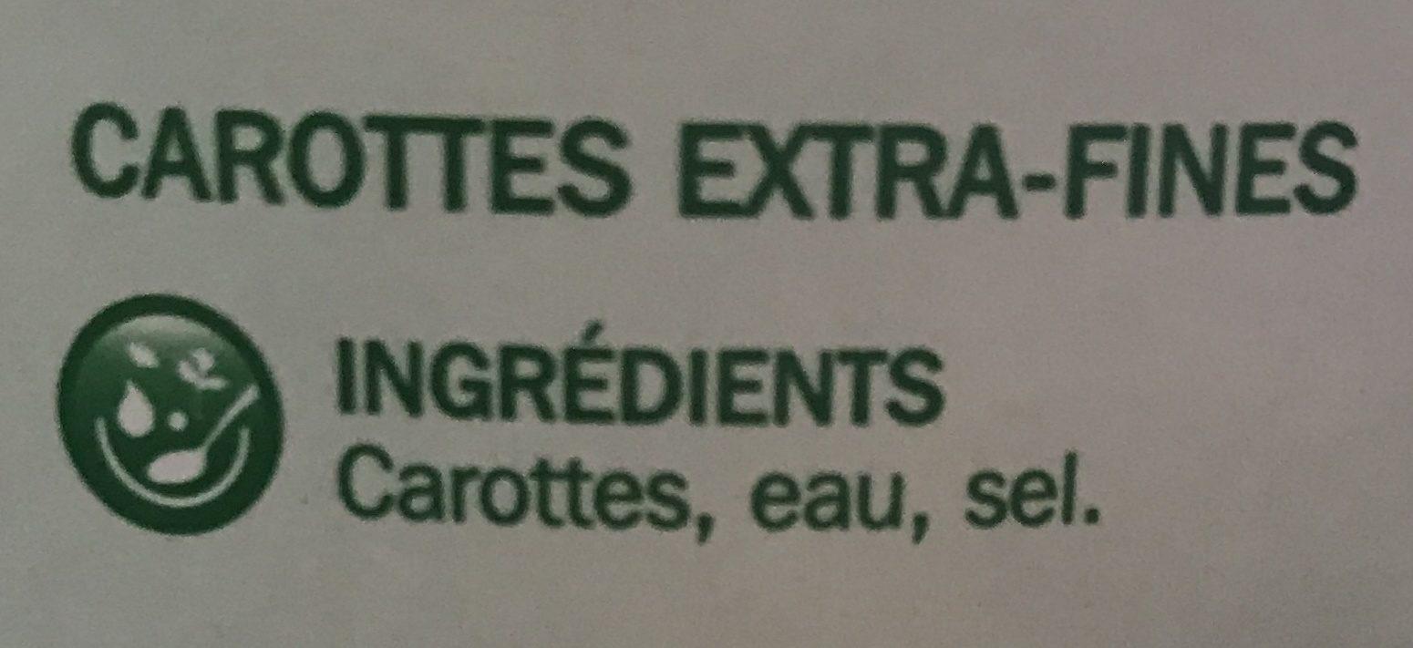 Jeunes carottes extra fines - Ingrédients - fr
