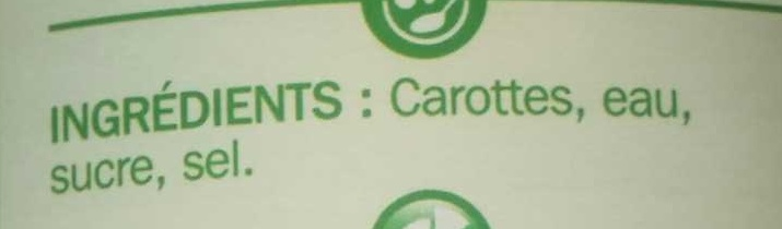 Carottes - Ingrédients - fr