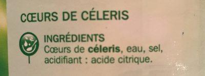 Coeurs de céleri - Ingredients