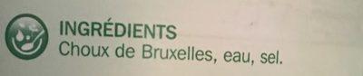 Choux de bruxelles 4/4 - Ingrédients - fr