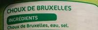 Choux de Bruxelles - Ingrédients - fr