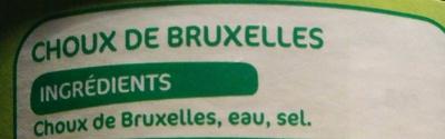 Choux de Bruxelles - Ingredients