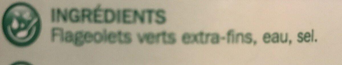 Flageolets verts extra fins 4/4 - Ingrédients - fr