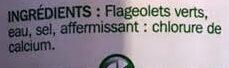 Flageolets verts extra fins 1/2 - Ingrediënten