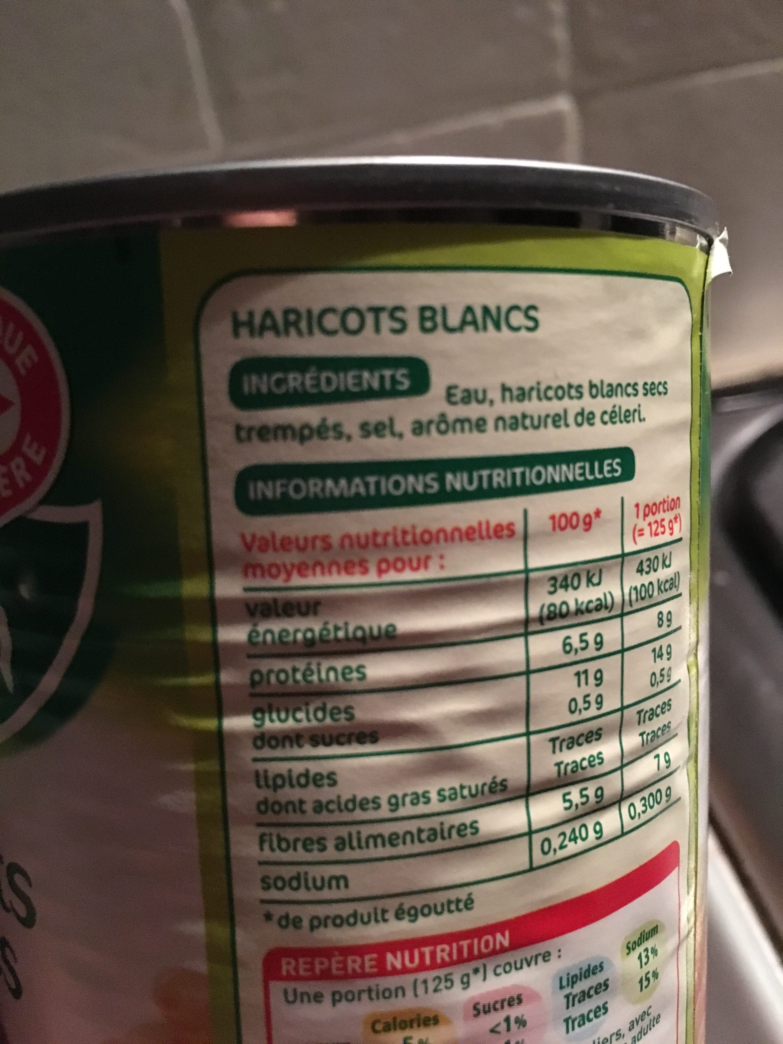 Haricots blancs - Ingredients