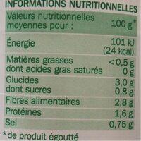 Haricots verts extra-fins - Voedingswaarden - fr