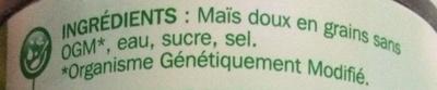 Maïs tendre - Ingredients - fr