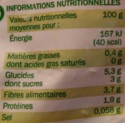 Légumes pour Couscous - Informazioni nutrizionali - fr
