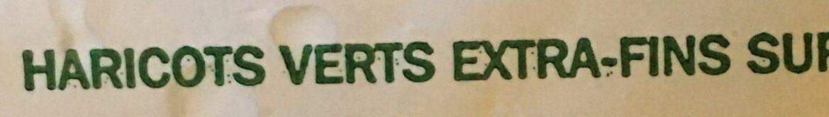 Haricots verts extra-fins surgelés - Ingrédients - fr