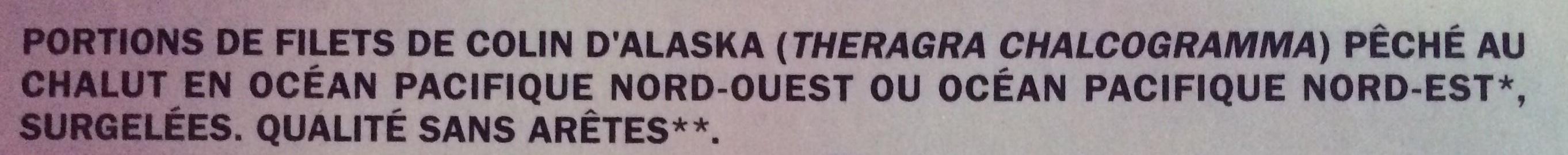 Filets de colin d'Alaska x10 - Ingrédients