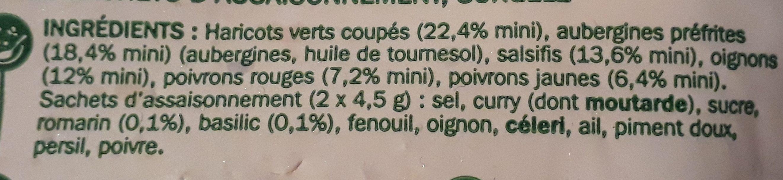 Poêlée Méridionale - Ingredients