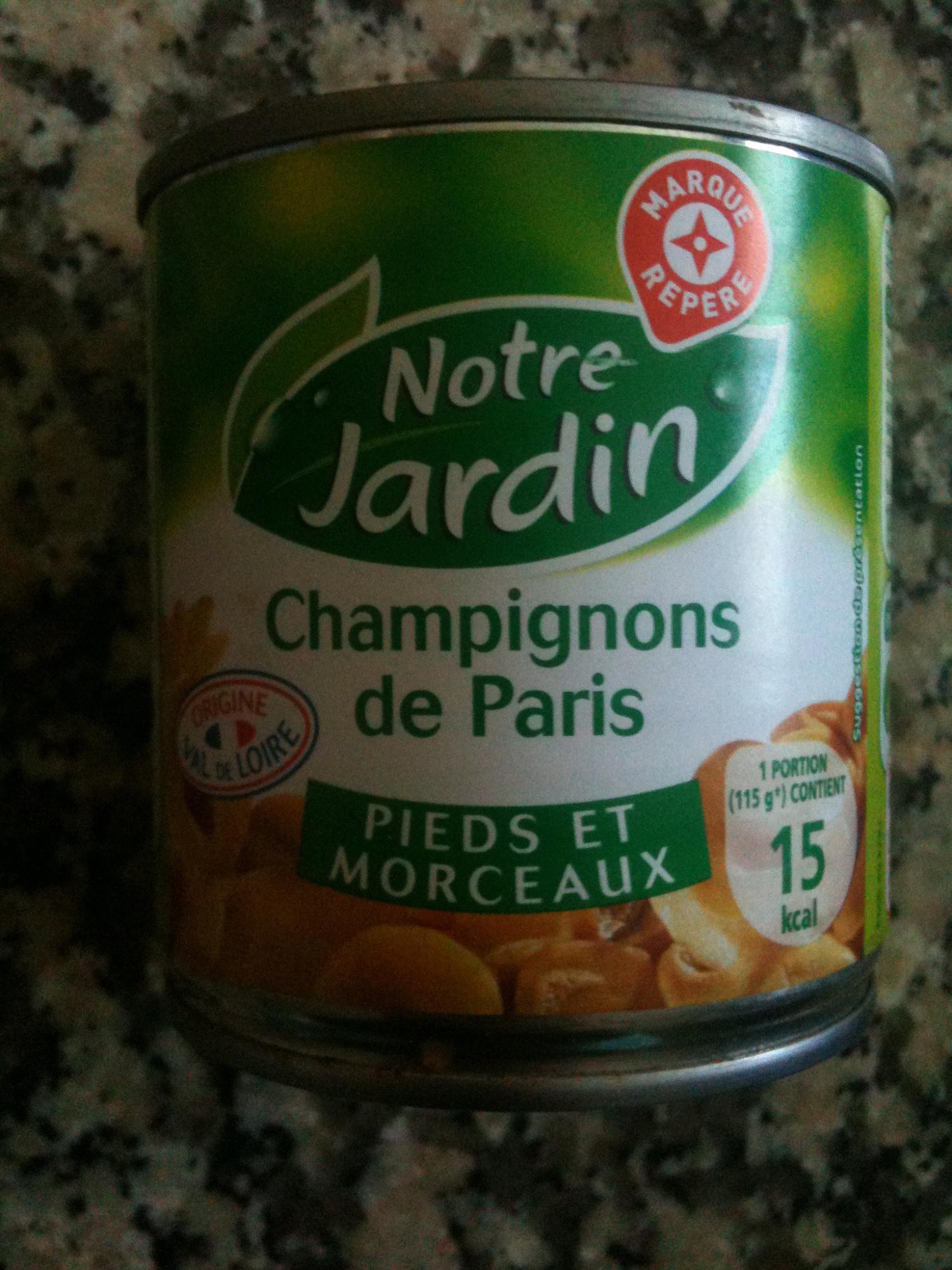 Marque Repère - Notre Jardin - Champignons de Paris (Pieds et Morceaux) - Product - fr