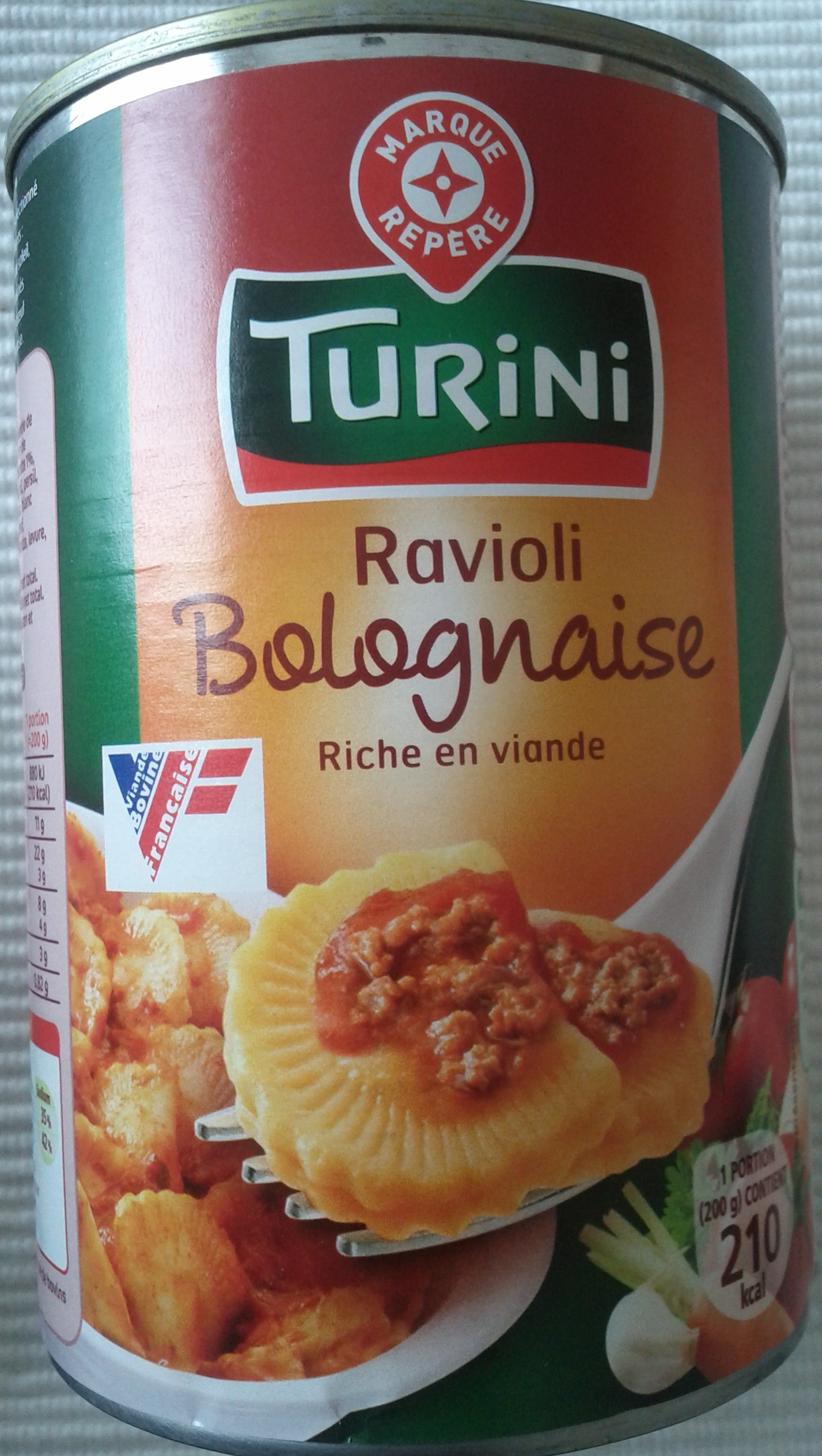 Ravioli bolognaise riche en viande turini 400 g - Cuisine turini ...