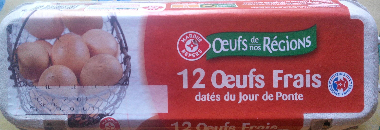 Oeufs frais djp x12 - Product - fr