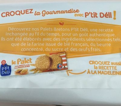 Le palet breton - Ingredienti - fr