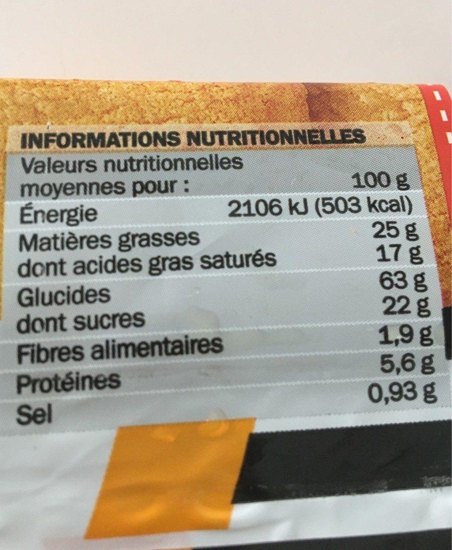 Le palet breton - Valori nutrizionali - fr