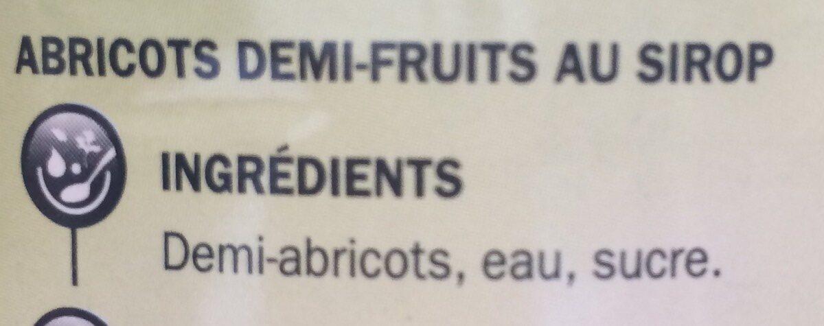 Abricots au sirop - Ingrédients - fr