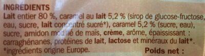 Crème dessert caramel - Ingredients - fr
