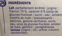 Dessert lacté vanille/caramel - Ingrédients - fr