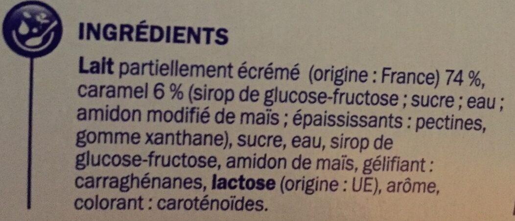 Dessert lacté vanille et caramel - Ingredients