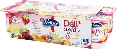 Spécialités laitières fruits 0% 8X125 - Product - fr