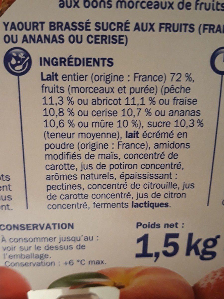 Yaourt aux fruits - Ingrediënten - fr