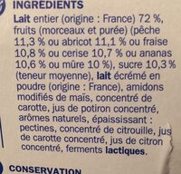 Yaourts aux fruits morceaux - Ingrediënten - fr