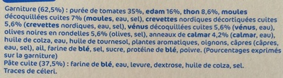 Pizza aux fruits de mer - Ingrédients - fr