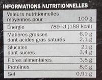 Pizza aux fruits de mer - Informations nutritionnelles - fr