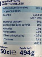 Crème fraïche 30% mg - Informations nutritionnelles - fr
