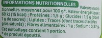 Asperges blanches pointes - Nutrition facts - fr