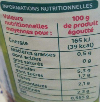 Coeurs de palmier 500g pne - Nutrition facts