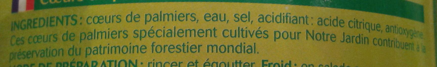 Coeurs de palmier bocal - Ingredients - fr
