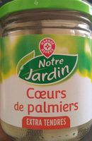 Coeurs de palmier bocal - Nutrition facts - fr