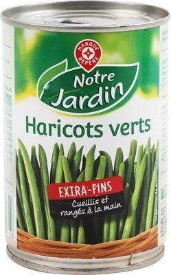 Haricots verts extra fins cueilli et rangés à la main 1/2 220g pne - Product