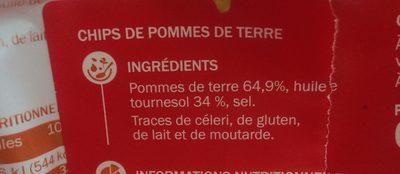 Chips natures sachets - Ingrediënten