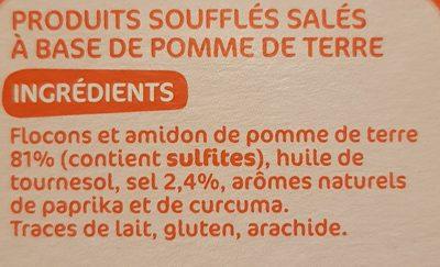 Pétales salés - Ingrédients