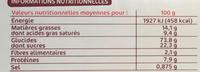 Petits beurres x 24 - Valori nutrizionali - fr