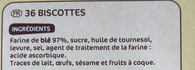Biscottes x 36 - Ingredients