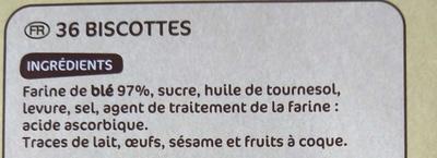 Biscottes x 36 - Ingrediënten