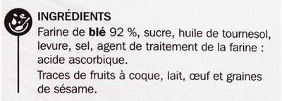 Pains grillés au Froment - Ingrediënten - fr