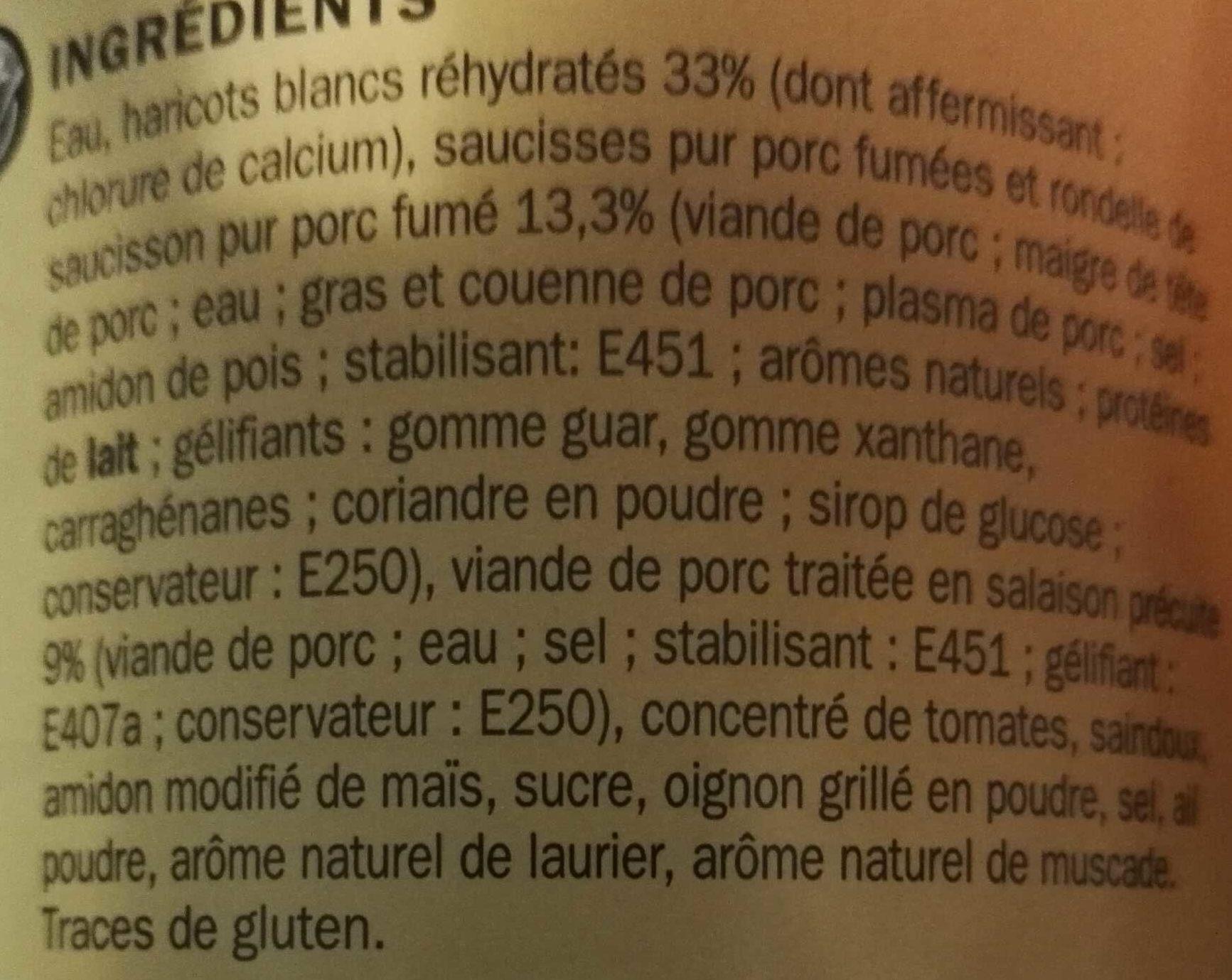 Cassoulet - Ingrédients