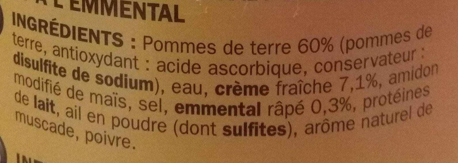 Gratin dauphinois - Ingrediënten - fr