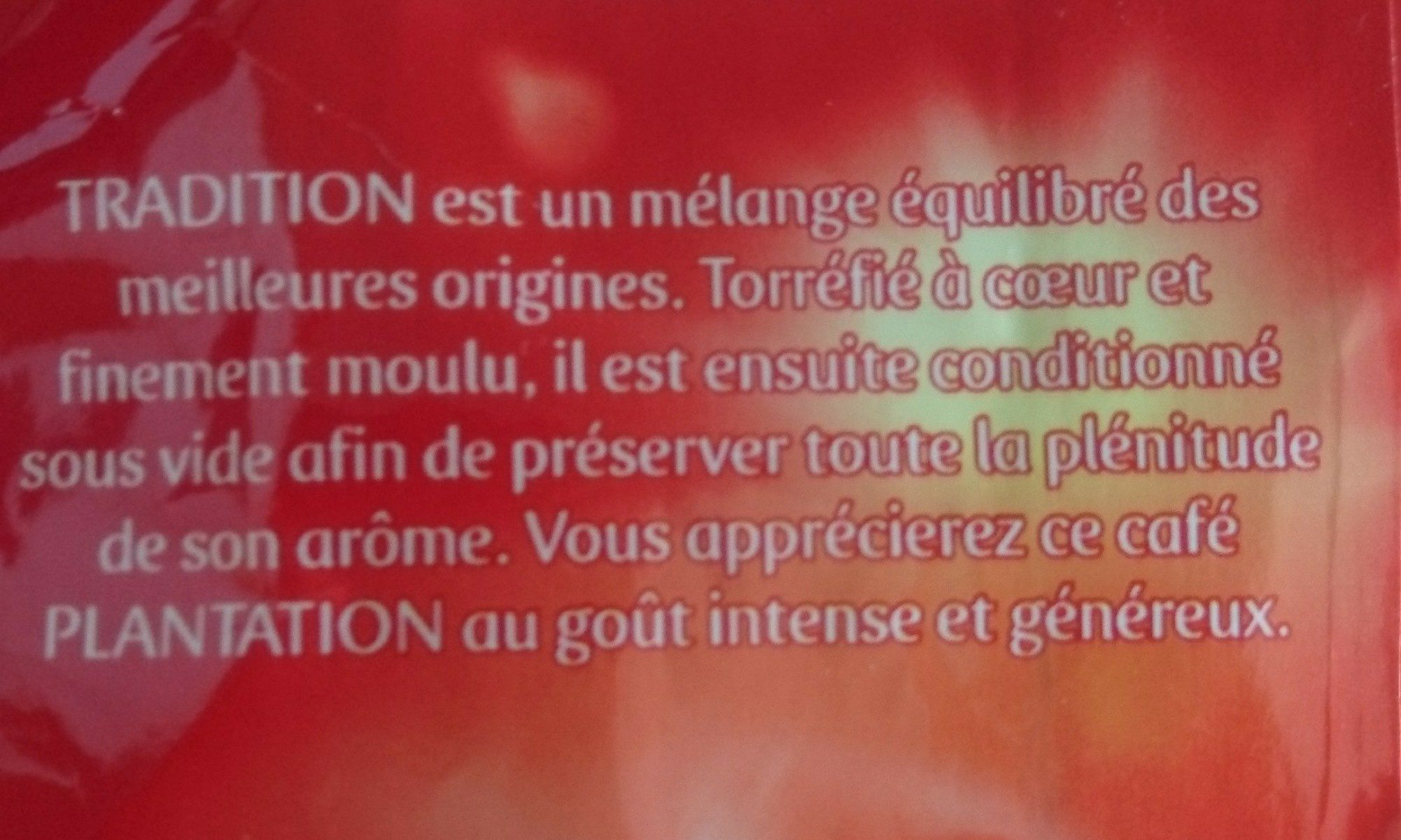 Café moulu tradition - Ingrédients - fr