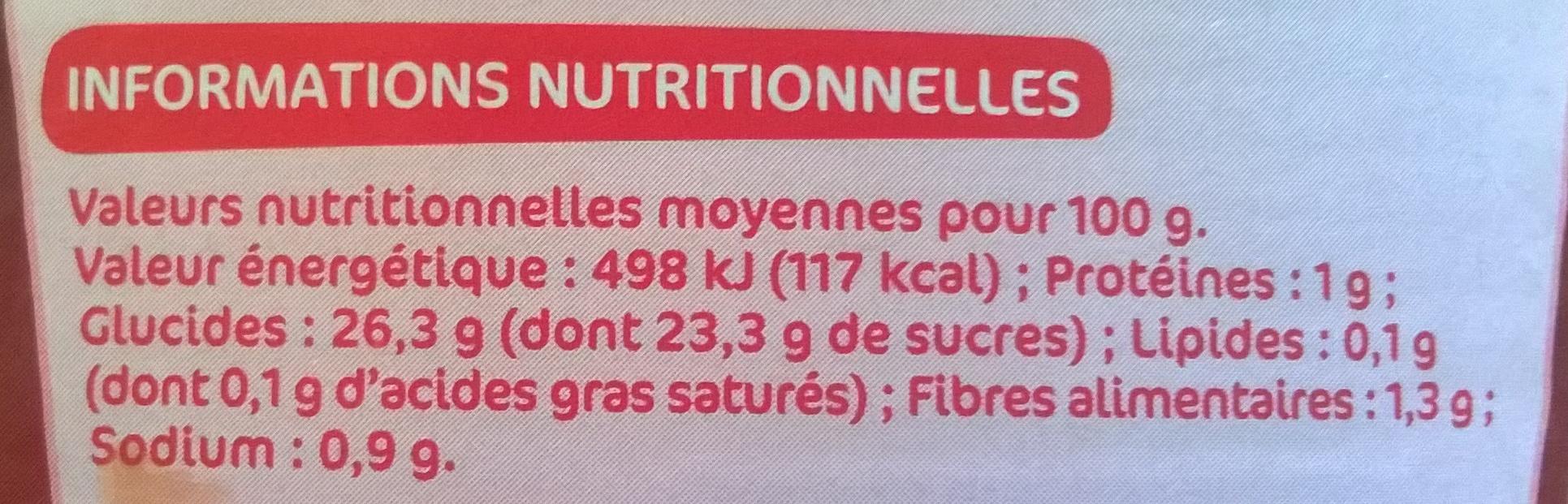 Ketchup épicé souple - Informations nutritionnelles - fr