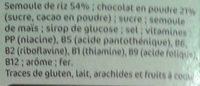 Riz Soufflé au Chocolat - Ingrédients - fr