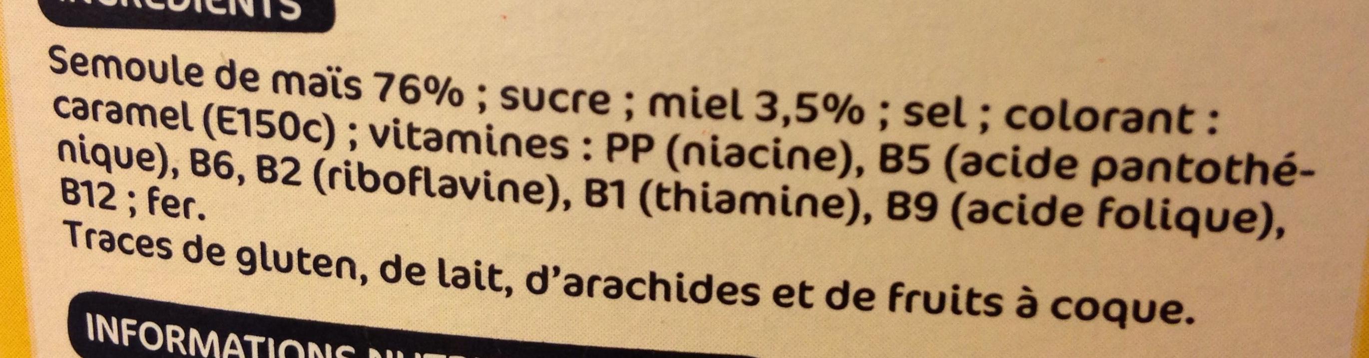 Boules céréales miel - Ingrédients - fr