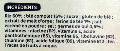 Forme Flakes Nature - Ingrédients - fr